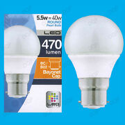 25x 5.5w Led Ultra Low Energy Instant On Pearl Round Golf Light Bulb Bc B22 Lamp