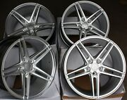 18 Silver 5ss Alloy Wheels Fits Bmw 8 Series E31 Coupe Old Skool Wider Rear