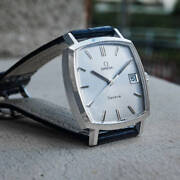 Omega Geneve Ref.135.0052 Vintage Overhaul Square Automatic Mens Watch Authentic