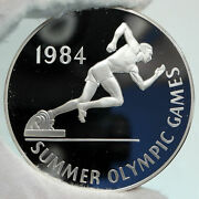 1984 Jamaica Los Angeles Usa Olympics Running Proof Silver 25 Dollar Coin I89105