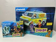 Playmobil Scooby-doo Mystery Machine Set 70286 And 70287 Bundle Lot