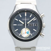 Citizen 4-900014ta Vintage New Old Stock Chronograph Ss Automatic Mens Watch