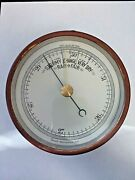 Antique Barometer - 5 Inch Aneroid Tycos Rochester New York Stormy Change Fair