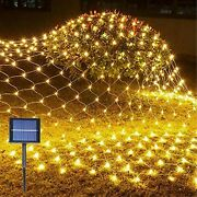 Solar Net Mesh String Lights Outdoor Waterproof Led Lights For Party Christmas