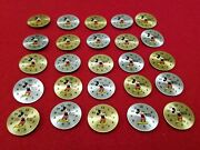 25 Vintage Mickey Mouse Used Gold And Silver Toned Metal Wrist Watch Dial Faces