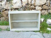 Antique Vintage Woodandengraved Glass Medicine Cabinet Apothecary Wall Chest