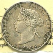 1871 Canada 25 Cents Iccs Vf30 Obverse 1 11283