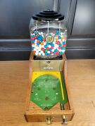 Vintage 1942 Gumball Machine Skill 1andcent Penny Coin Op Pinball Golf Game Counter