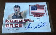 2015 Ryan Lochte Red Serial 1/5 Auto Leaf Legends Of The Sport National Pride