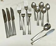 Wallace Napoli Frost 18/10 Stainless Knives Forks Spoons Butter Sugar 14 Pieces