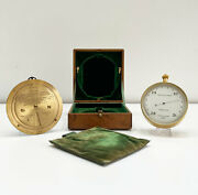 Leather Cased Forecasting Aneroid Barometer With Forecaster By Negretti And Zambra