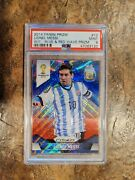 2014 World Cup Prizm Lionel Messi Blue And Red Wave Prizm Psa 9 Argentina 🔥 📈