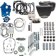 S And S Cycle Black Blue Water Cooled 128 Power Packages For M-eight 310-1102