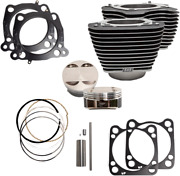 S And S Cycle Black/highlight 128 Big Bore Kits For M-eight 114 Engines 910-0684