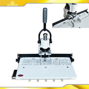 Paper Hole Drill Punch Machine 1/4 6mm 300 Sheets Two Cut Die Moulds Office