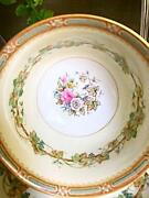 Noritake Tea Cup Saucer Meiji Old Japanese Antique Gold Lupine Pottery Used
