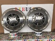 """Vintage 1973 1974 Toyota Corolla 13"""" Hubcaps Wheel Covers Pair Of 2"""