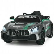 12v Mercedes Benz Amg Licensed Kids Ride On Car-light Gray - Color Light Gray