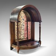 Antique Butlerand039s Mirror English Rosewood Dome Top Wall Victorian C.1880