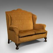 Antique Queen Anne Style Sofa, English, Two Seat Settee, Victorian, Circa 1880