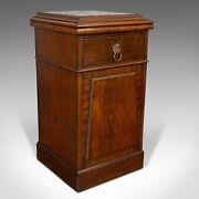 Tall Antique Side Cabinet, English, Mahogany, Bedside, Nightstand, Regency, 1820