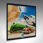 Vintage American Express Print Framed Retail Advertisement Poster Amex