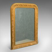 Antique Wall Mirror English Gilt Gesso Neo Classical Revival Victorian 1900