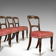 Antique Dining Chair Suite English Walnut Set Of 5 Chairs Gillow Victorian