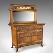 Antique Sideboard English Oak Arts And Crafts Cabinet Liberty Taste Circa 1900