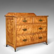 Antique Chest Of Drawers Satinwood English Victorian Bedroom Circa 1900