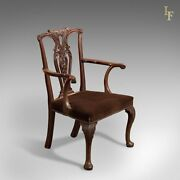 Antique Elbow Chair 19th Century In Chippendale Taste