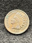 1894 P Indian Head Cent Full Liberty Circulated Coin
