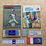 Montreal Expos Tickets/yearbooks Set Full Details In Description