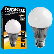 12x 6w Dimmable Duracell Led Frosted Gls Globe Instant On Light Bulb Es E27 Lamp