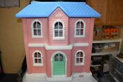 Vintage Little Tikes Tykes Huge My Size Barbie Doll House Mansion Guc Clean