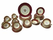 Aynsley Bone China And039coventry Decoand039 Pattern 7840 - Dinner Set For 8 - 56 Pieces