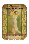 Scarce 1900s Eversweet Litho Tin Advertising Tip Tray In Excellent Condition