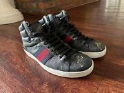 Ace Gg Supreme Tiger High Tops Black Uk Size 8 Shoes Sneakers