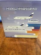 Boeing 737-200 Ansett Vh-czo 1/200 Scale Metal Model From Jc Wings Rare