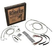 Burly Stainless Braid 18in. Ape Hangers Cable And Brake Line Kits B30-1129
