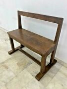Old Vintage Rare Handmade Teak Wood Wooden Heavy Bench, Collectible