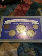 Americana Series Yesteryear Coin Collection Set5 Coins In Lucite Case