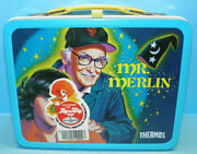 Vintage Columbia Pictures 1981 Mr Merlin Tv Show Metal Lunch Box W/thermos A