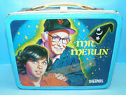 Vintage Columbia Pictures 1981 Mr Merlin Tv Show Metal Lunch Box W/thermos B