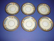 B And C Limoges France Ovington's Ny Chicago Plate Saucer Lot Set Of Six