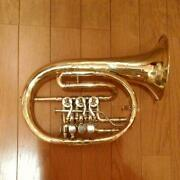 Used Clemens Glier Coulohorn Rotary Flugelhorn Yellow No Lacquer