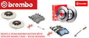 Front And Rear Brake Disc Rotors And Brake Pad Set For Mercedes Amggt,c63,cls63,e63