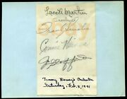 Frank Sinatra Signed Page 2/8/1941 Haines Stafford+ Autographed - Dorsey Band
