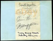 Frank Sinatra Signed Page 2/8/1941 Haines, Stafford+ Autographed - Dorsey Band