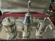 Antique English Silver Inkstand And Combined Table Bell Good Condition 620 Grams